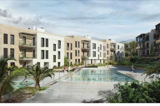Gartenwohnung mit 2 Schlafzimmern, in einem Neubaukomplex im Grünen, am Golfplatz, nahe Son Vida