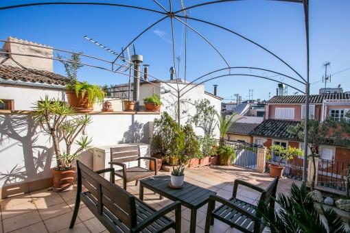 Duplex-Penthouse-Apartment mit 40 qm großer Dachterrasse in Palmas Altstadt