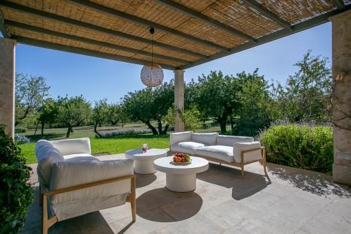 Lounge Area auf der Terrasse