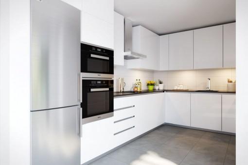 Moderne Küche in weiß