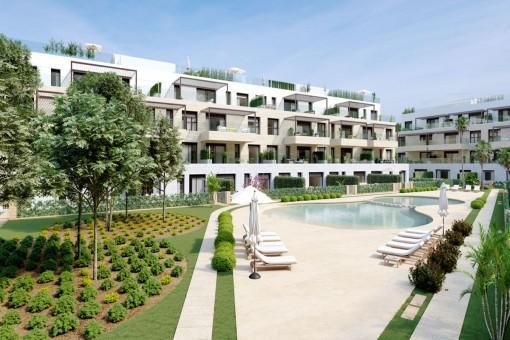 Neubau-Gartenapartments in bester Lage von Santa Ponsa
