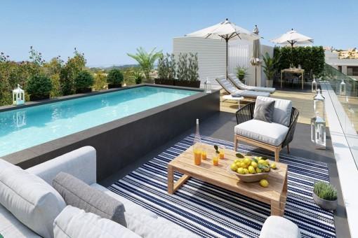 Neubau Penthousewohnungen in bester Lage in Santa Ponsa