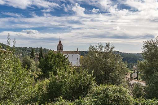 Blick auf das Dorf Galilea