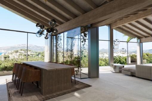 Wohnbereich mit Panoramablick