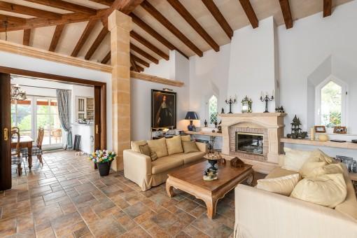 Authentischer und luxuriöser Wohnbereich