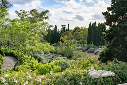 Malerischer Garten