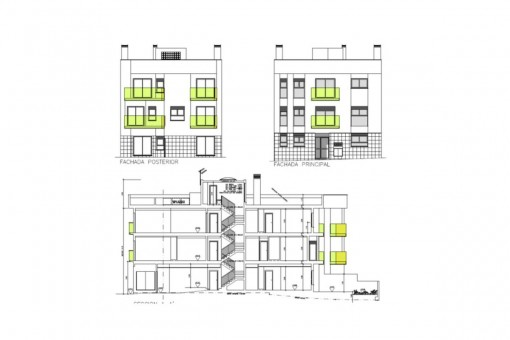 Plan der Fassade