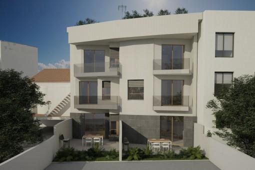 Schöne Neubauwohnung nah am Strand von Cala Gamba gelegen