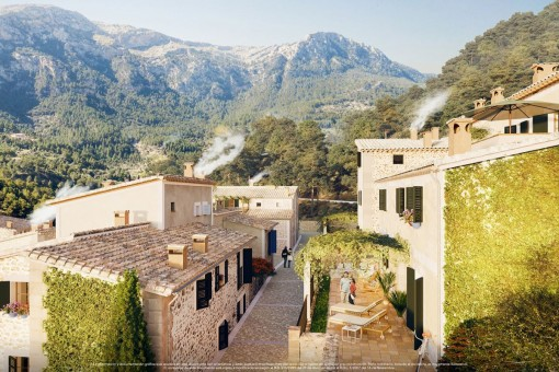Neugebautes Haus, inspiriert von der Umgebung von Deià