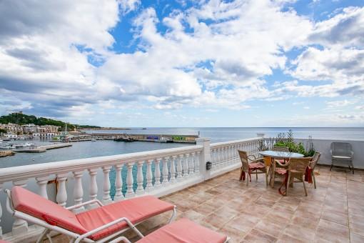 Schöne Wohnung, direkt am Meer, gut gelegen und mit fantastischer Aussicht in Cala Ratjada