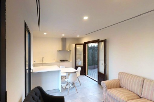 Bezauberndes, helles Penthouse-Apartment mit privater Terrasse nahe Mercado d´Olivar in Palma