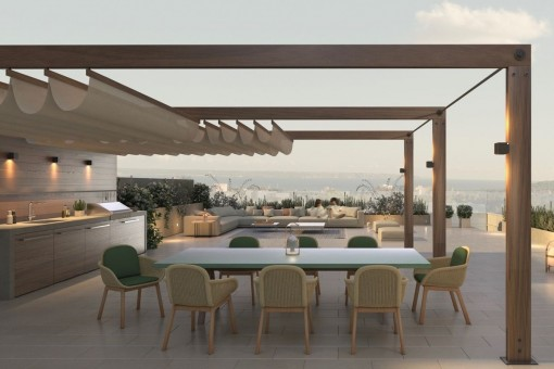 Penthouse in schickem Neubauprojekt am Golfplatz Son Quint in Son Rapinya
