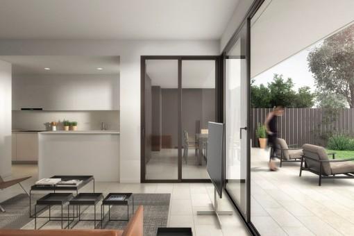 Neue Erdgeschoss-Wohnung in schickem Projekt am Golfplatz Son Quint in Son Rapinya
