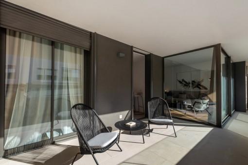 Großzügige Wohnung in schickem Neubauprojekt am Golfplatz Son Quint in Son Rapinya