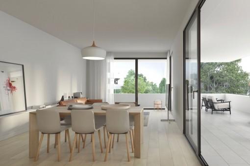Moderne Neubau-Wohnung in schickem Projekt am Golfplatz Son Quint in Son Rapinya