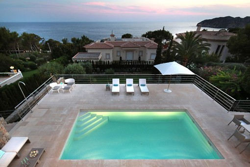 Schöne Villa mit Meerblick in Santa Ponsa