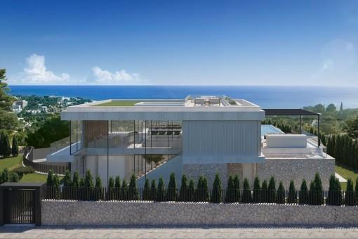 Projekt für eine moderne Luxusvilla in Costa d'en Blanes