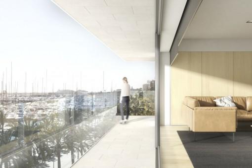 Penthouse direkt am Paseo Maritimo mit 3 Schlafzimmern