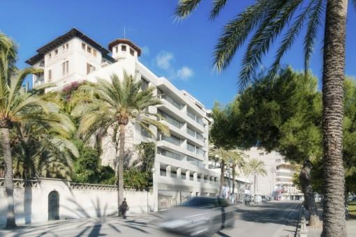 Moderne Neubauwohnungen in erster Meereslinie mit in Palma