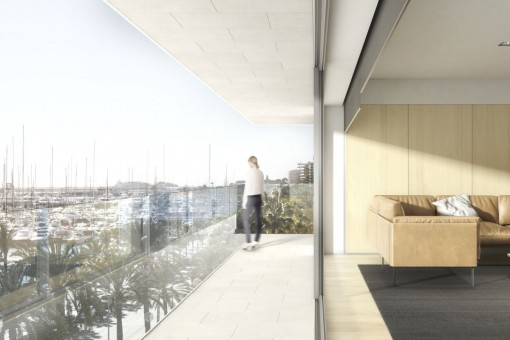 Balkon mit Meerblick