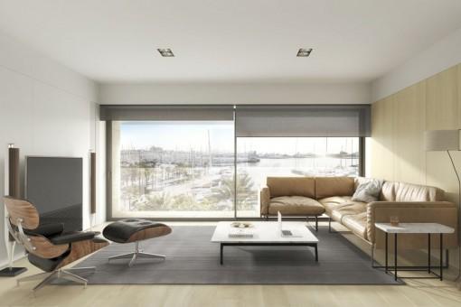 Zentral gelegene Wohnung mit Balkon direkt am Paseo Maritimo