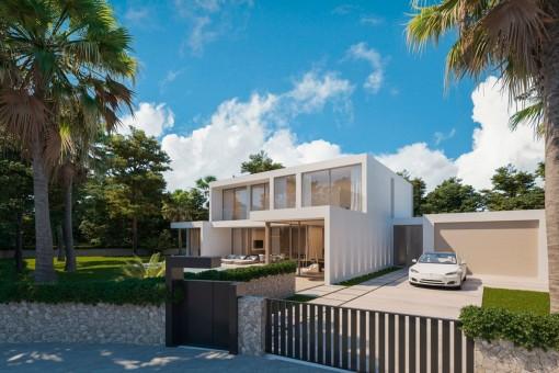Neues, minimalistisches Villenprojekt mit Pool in Santa Ponsa