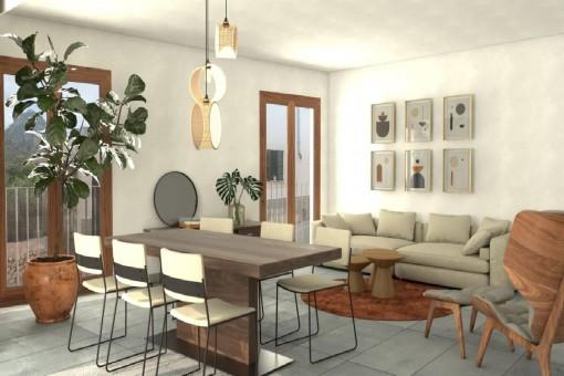 Neue Erdgeschosswohnung zum Erstbezug mit 96 qm Terrasse in Caimari