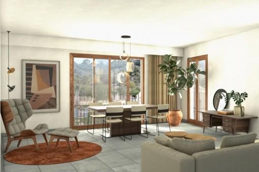 Schöne Obergeschosswohnung mit 62 qm Dachterrasse zum Erstbezug in Caimari