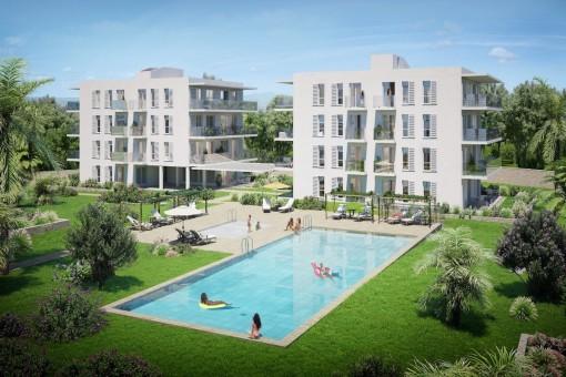 Hochwertige, lichtdurchflutete Neubauwohnungen in der Nähe vom Hafen von Cala d'Or