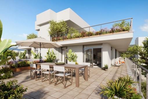 Moderne und elegante Penthousewohnung in Palmanova
