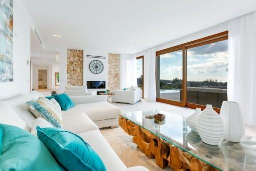 Schön gestalteter Wohnbereich