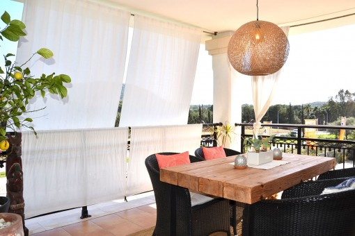 Schöne Wohnung in ausgezeichneter Lage mit Blick auf die Berge in Santa Ponsa