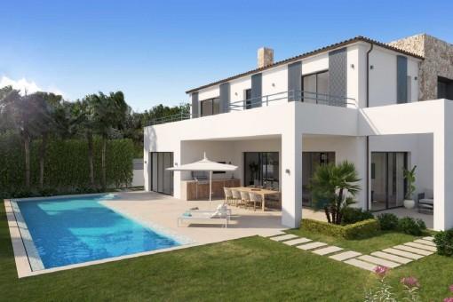 Neubauvilla mit modernen Design in begehrter Lage von Santa Ponsa