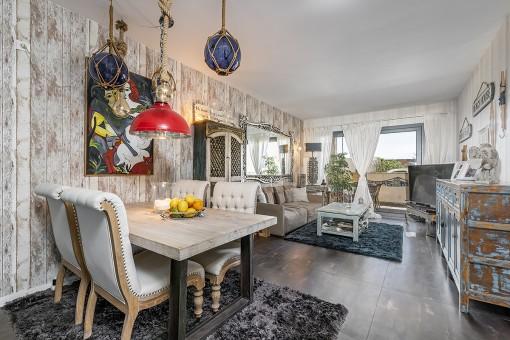 Moderne Wohnung in maritimem Style mit spektakulärem seitlichen Meerblick in Colonia de Sant Jordi-kaufen