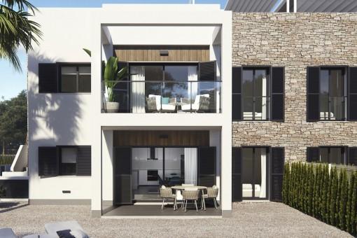 Stylische Neubauwohnung mit privatem Gartenanteil