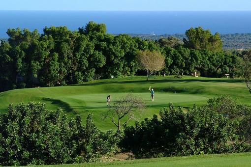Ansicht des Golfplatzes