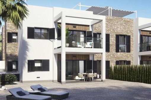 Stylische Neubauwohnungen mit Dachterrassen in Cala Murada