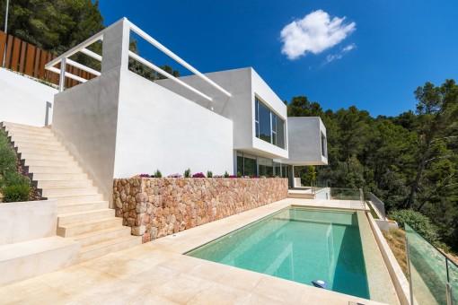 Avantgarde, super Aussicht und neu! - Villa in Bunyola