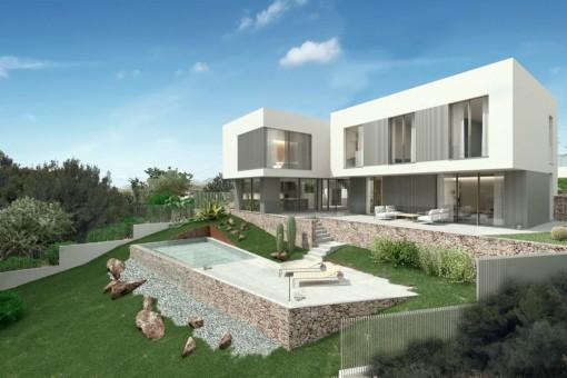 Moderne Neubau-Villa in begehrter Lage von Santa Ponsa