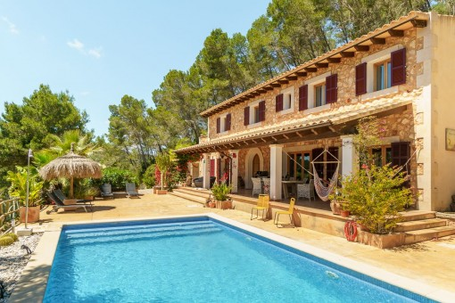Traumhafte Finca in Montuiri mit Ferienvermietlizenz und wunderbaren Weitblick in absoluter Ruhe