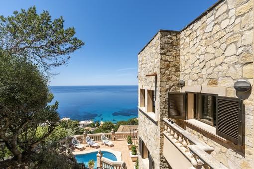 Luxusvilla in der Cala Llamp mit spektakulärem Ausblick
