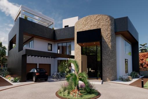 Einzigartige Neubau-Villa am Stadtrand von Sa Rapita