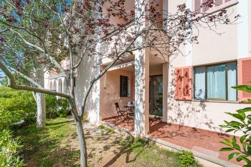 Gepflegtes Erdgeschossapartment mit kleinem privaten Gartenanteil in ruhiger Wohngegend von Port de Pollensa