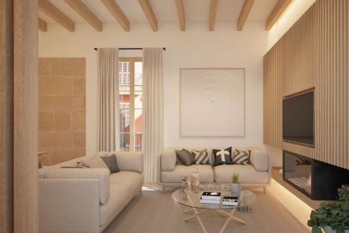 Traumhaft schöne, luxuriös renovierte Wohnung mitten im Zentrum von Plamas Altstadt