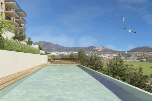 Topmoderne Etagenwohnung in Neubauwohnanlage in Santa Ponsa
