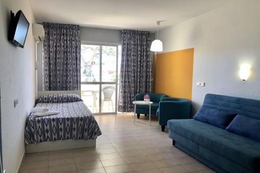Möblierte Studios in kleiner Apartmentanlage mit Gemeinschaftspool in Palmanova