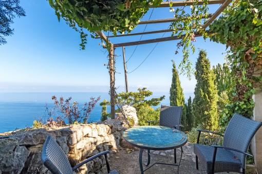 Romantische Meerblick-Terrasse