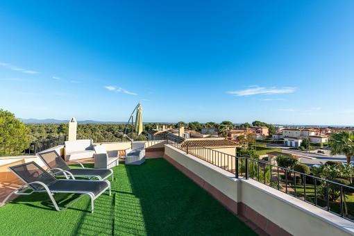 Fantastische Penthouse-Wohnung mit herrlichem Meerblick in Sa Rapita
