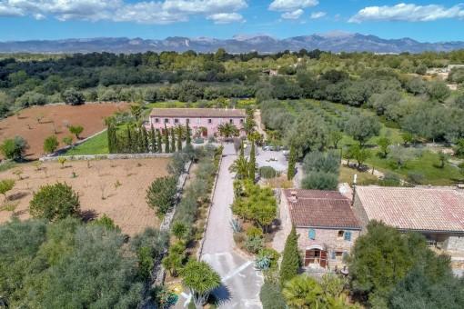 Einzigartiger Agroturismus Resort in Sencelles mit Ferienhäusern, Wohnungen und Pools bietet viele Möglichkeiten