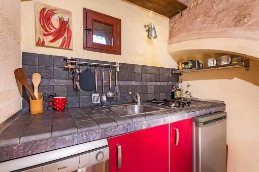 Kleine, funktionale Küche